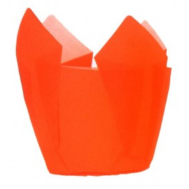 Caissette Muffin Tulipe Ø50x50/80 mm Orange (2000 Utés)