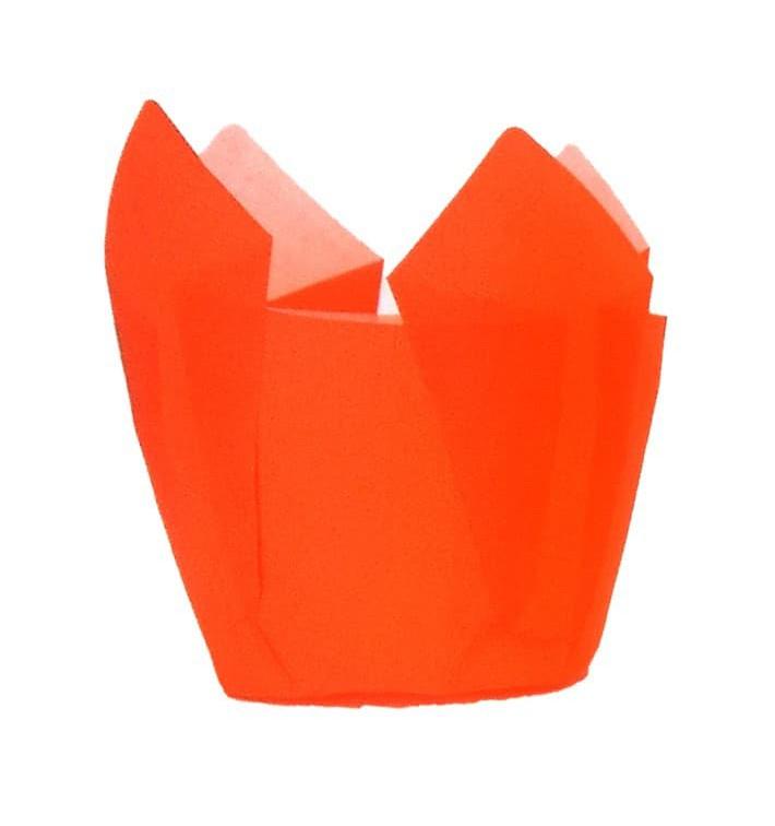 Caissette Muffin Tulipe Ø50x50/80 mm Orange (2000 Utés)