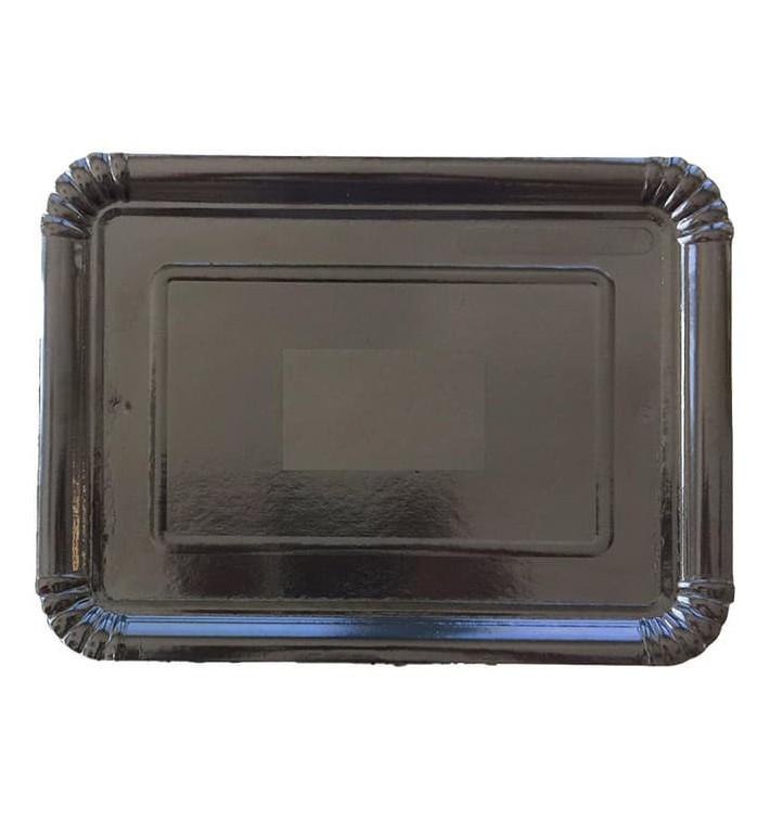 Plat rectangulaire en Carton Noir 20x27 cm (800 Unités)