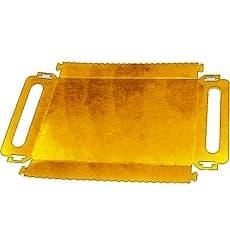 Plat rectangulaire Carton Doré Poignées 285x385x25 mm (100 Utés)