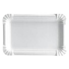 Plat rectangulaire en Carton Blanc 16x22 cm (100 Unités)