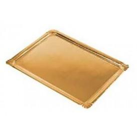 Plat rectangulaire en Carton Doré 10x16 cm (2200 Unités)
