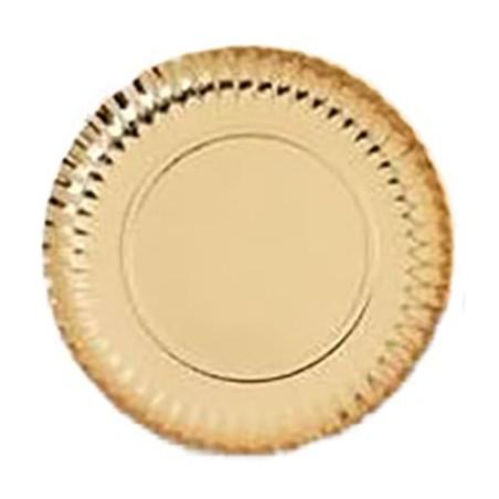 Assiette ronde en Carton Doré 380 mm (250 Unités)