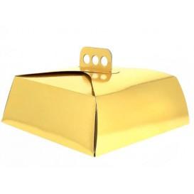 Boîte En Carton Doré Tarte 32,5x32,5x10 cm (100 Utés)