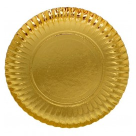 Assiette en Carton Ronde Doré 100 mm (100 Unités)