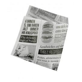 """Sachet Ingraissable Ouverture latérale """"News"""" 15x16cm (250 Utés)"""