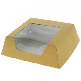 Boîte en Carton Kraft avec Fenêtre 120x120x40mm (25 Unités)