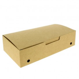 Boîte Repas à emporter Grand Kraft 200x100x50mm (375 Utés)