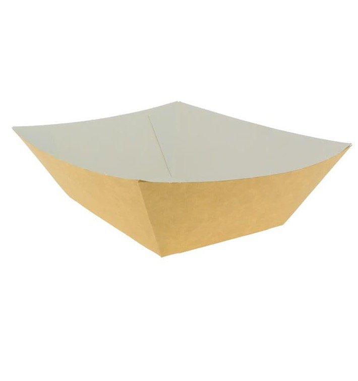 Barquette Carton 525ml Kraft 12,2x8,0x5,5cm (25 Utés)