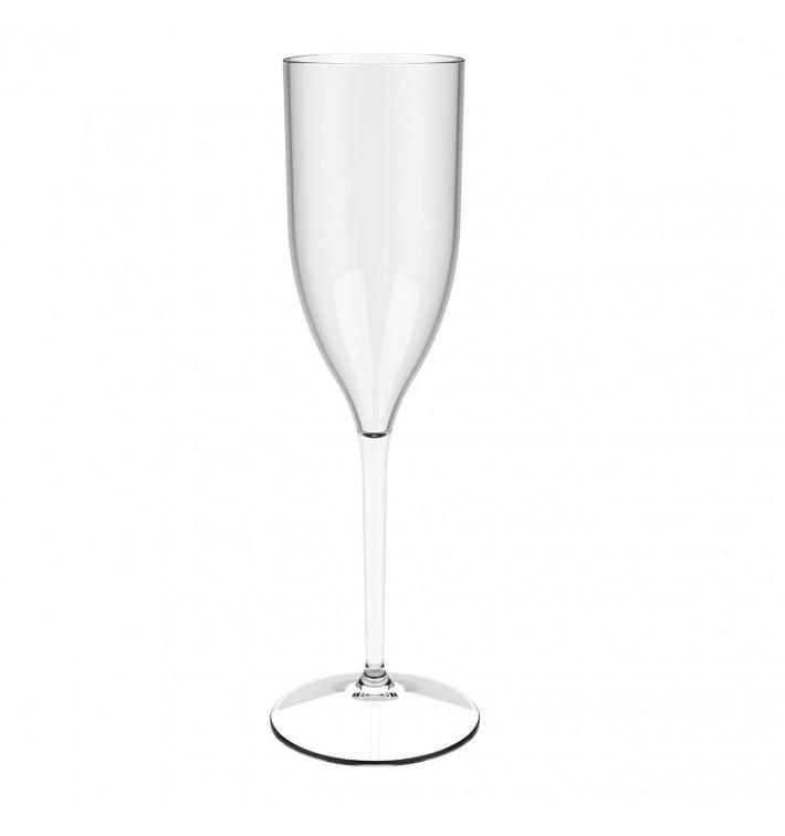 """Flûte Réutilisable à Champagne """"Bio Based"""" Tritan 170ml (6 Utés)"""