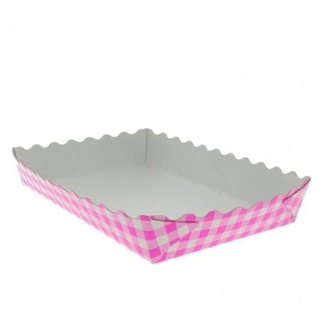 Plateau Rose pour Pâtisserie 18,2x12,2x3cm  (500 Utés)