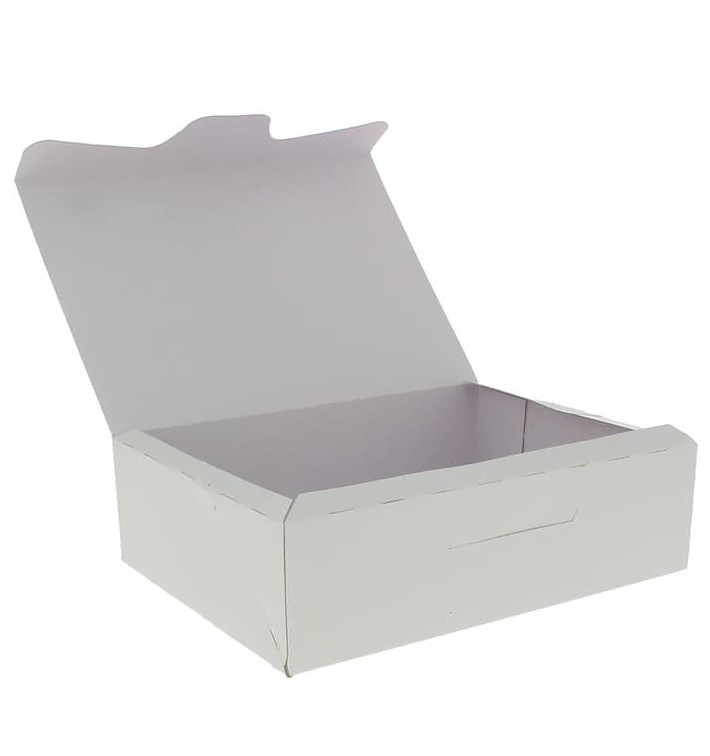 Boîte pâtissière 18,2x13,6x5,2cm 500g Blanc (250 Unités)