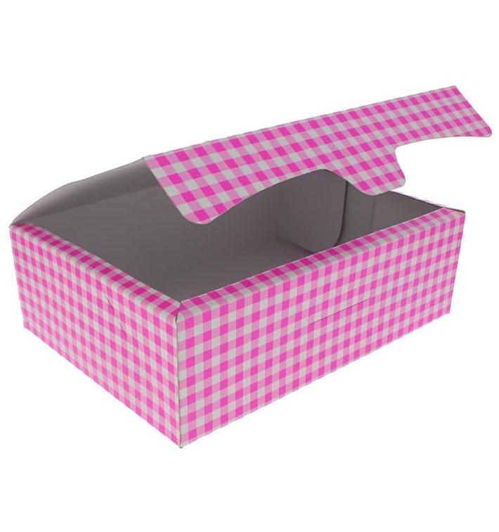 Boîte pâtissière 25,8x18,9x8cm 2Kg Rose (125 Unités)