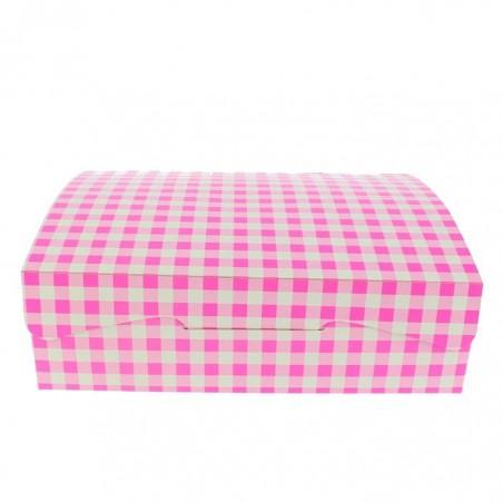 Boîte pâtissière 18,2x13,6x5,2cm 500g Rose (25 Unités)
