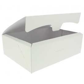 Boîte pâtissière 25,8x18,9x8cm 2Kg. Blanc (25 Unités)