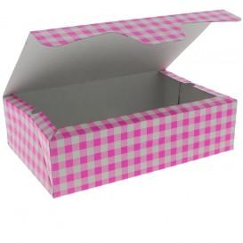 Boîte pâtissière 17,5x11,5x4,7cm 250g Rose (360 Unités)
