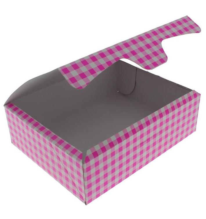 Boîte pâtissière 20,4x15,8x6cm 1Kg Rose (200 Unités)