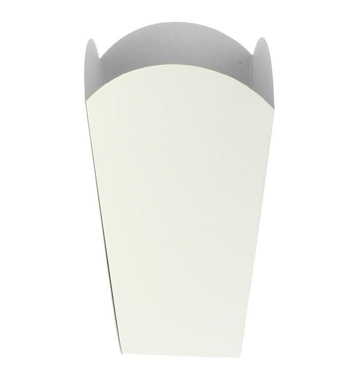 Etuis à Pop-Corn Moyen Blanc 90 gr 7,8x10,5x18cm (350 Unités)