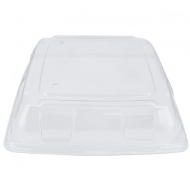 Couvercle Plastique PET Transp. Plateau 31x31cm (5 Utés)