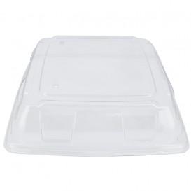 Couvercle Plastique PET Transp. Plateau 31x31cm (25 Utés)