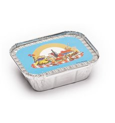 Couvercle Carton Emballage Aluminium 250ml (100 Utés)