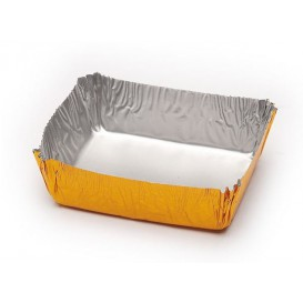 Caissette Pâtisserie Aluminium 52x42x15mm (100 Utés)