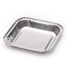 Moule en Aluminium Carré Pâtisserie 37ml (100 Unités)