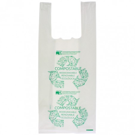 Sac à Bretelles 100% Biodégradable 35x50cm (2000 Unités)