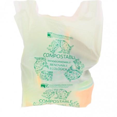 Sac à Bretelles 100% Biodégradable 40x50cm (100 Unités)