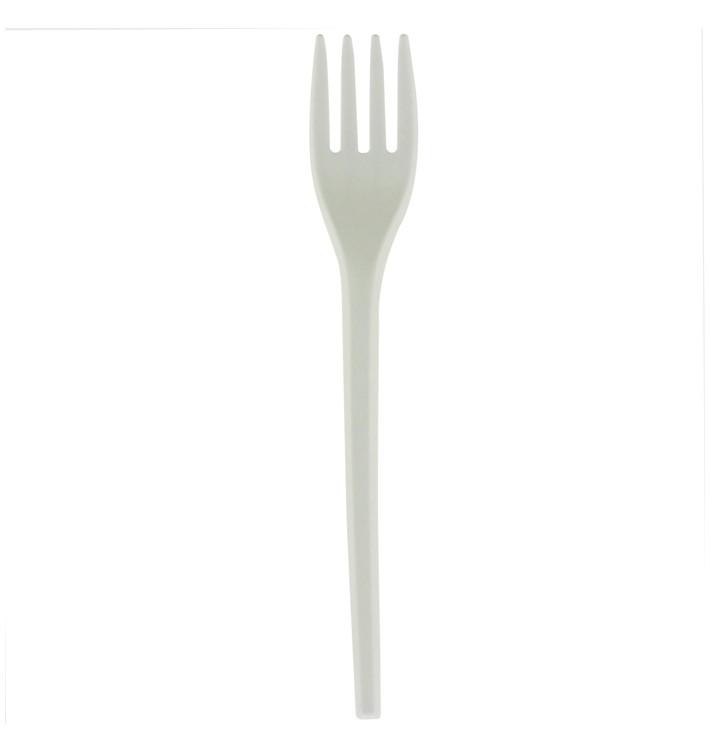 Fourchette Biodégradable Blanc CPLA 165mm (1000 Utés)