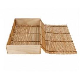 Boîte en Bambou Sushi 23x13x4,5cm (1 Uté.)