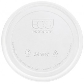 Couvercle Récipient Compostable PLA 235,355,470,940ml (50 Utés)
