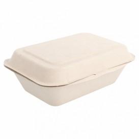 Boîte en Canne à Sucre naturel 136x182x64mm (1000 Utés)