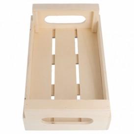 Caisse Présentation avec anses en Bois 20,5x12,5x6,5cm (20 Utés)
