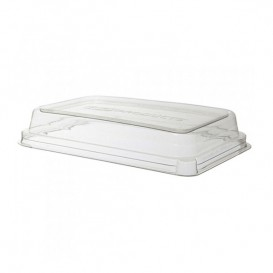 Couvercle Compostable PLA Transparent Boîte Ecologique 710 et 940ml (200 Utés)