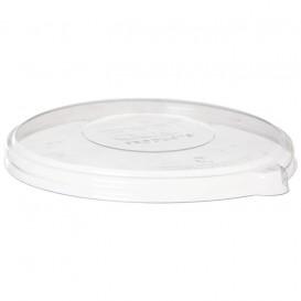 Couvercle Compostable PLA Transparent Bol 355 et 470ml (50 Utés)