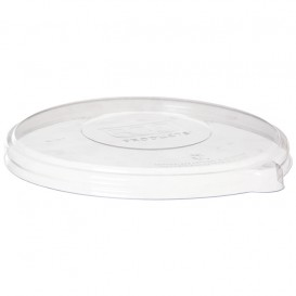Couvercle Compostable PLA Transparent Bol 355 et 470ml (400 Utés)