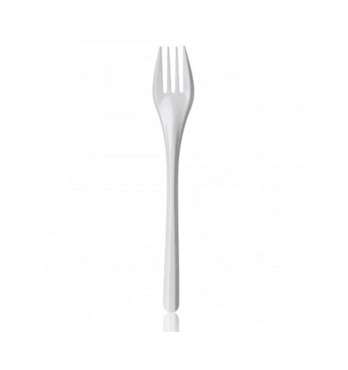 Fourchette Plastique Blanche 165mm (2000 Unités)