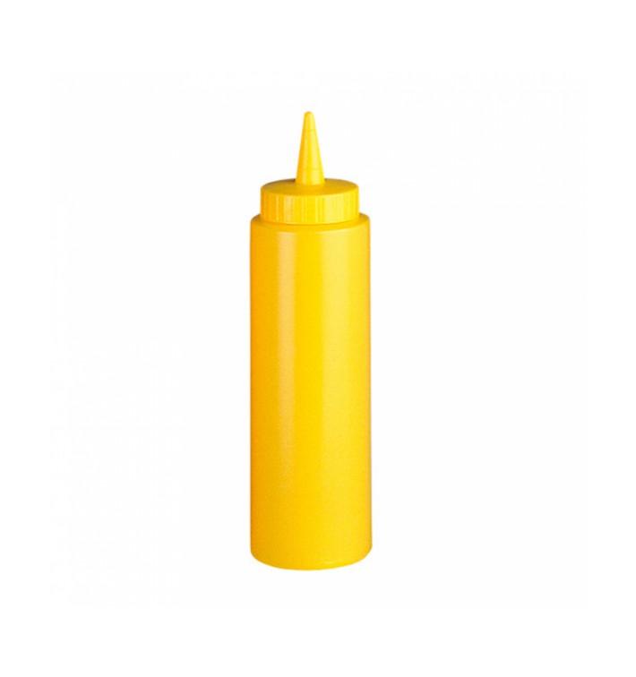 Bouteille pour Sauces Plastique Jaune 240ml (6 Utés)