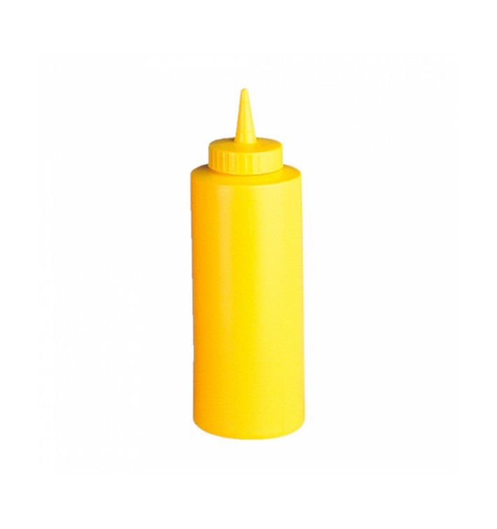 Bouteille pour Sauces Plastique Jaune 360ml (6 Utés)