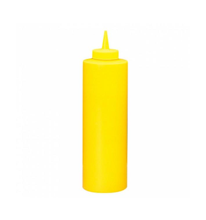 Bouteille pour Sauces Plastique Jaune 720ml (36 Utés)