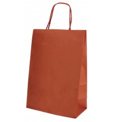 Sac en Papier Kraft Rouge avec Anses 80g 20+10x29 cm (250 Utés)