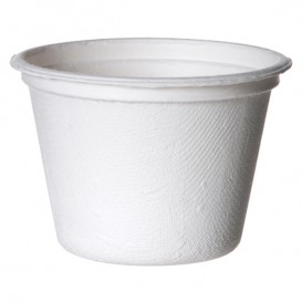 Pot Canne à Sucre Bagasse Blanc 120ml (50 Utés)