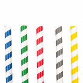 Paille Droite Papier Assortiment Ø10mm 21cm (2400 Utés)