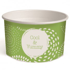 Pot à glace en carton 3oz/100 ml Cool&Yummy (2.600 Unités)