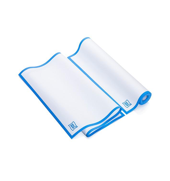 """Torchons """"Roll Drap"""" avec Bande Bleue 40x64cm P64cm (10 Utés)"""