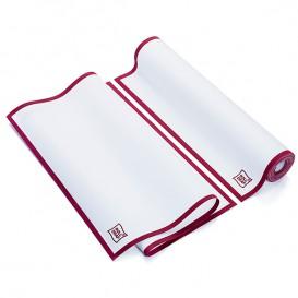 """Torchons """"Roll Drap"""" avec Bandes Bordeaux 40x64cm P64cm (10 Utés)"""
