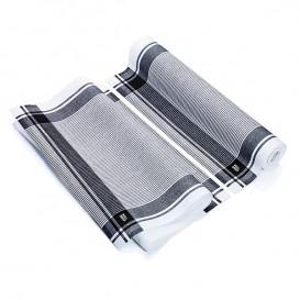 """Torchons """"Roll Drap"""" Vintage Noir 40x64cm P64cm (10 Utés)"""