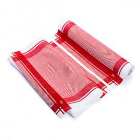 """Torchons """"Roll Drap"""" Vintage Rouge 40x64cm P64cm (10 Utés)"""