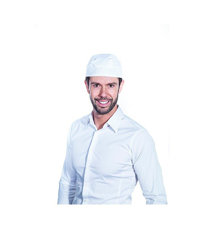 Bandana Cuisinier Coton Blanc (25 Unités)